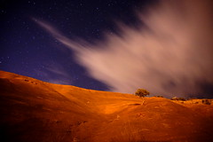 Watching the Stars Fall (ikewinski) Tags: nightphotography clouds gallup redrockpark awesomesauce