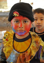 Oaxaca Child With Painted Face (Ilhuicamina) Tags: kids children mexico faces fiestas caras carnivals oaxacan mexicanas zapotec tilcajete