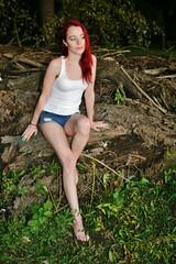 """Bite Me: A Vampire Tale"" Photo Shoot (PhotoAmateur1) Tags: girl barefoot shorts"