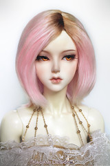 pink and caramel marshmallows (Kimirra) Tags: alpaca bjd soom commission abjd colorfulwig colorfulhair clozel abjs alpacawig angorawig kagamidesign