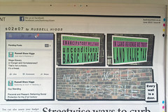 6 June 2013 - s02e07 Common plc (Mister Higgs) Tags: june print newspaper chalk walls fumetti ubi anotherworld facebook newsprint commonplace socialmedia lvt 2013 wageslavery basicincome neweconomics guystanding hackneycitizen landvaluetax precariat