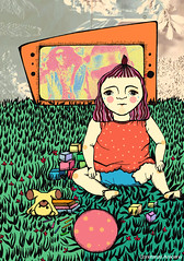 (Constanza__A.L) Tags: colors girl illustration ink crying infancy badmusic badtv