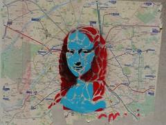 Mona Lisa prend le mtro (Jeanne Menj) Tags: monalisa map plan mtro paris streetart graffitis joconde