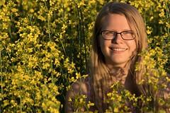 Jordan (austinspace) Tags: portrait woman field yellow glasses washington spokane dress farm blond crop blonde canola endless