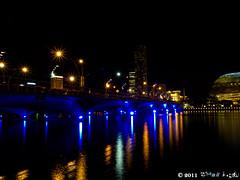 night_7 (Squall EC) Tags: river hotel bay flyer singapore esplanade mbs marinabay raffleshotel singaporeflyer marinabaysands