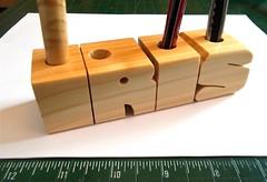 Spruce Pen Name (DustyNewt) Tags: wood iris wooden desk handmade name teacher secretary custom spruce woodworking salesman receptionist nameplate accessory madetoorder dustynewt