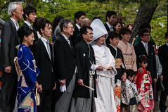 Traditional Japanese wedding (TheSpaceWalker) Tags: history japan photography japanese groom bride photo nikon kamakura pic tradition kanagawa japanesewedding jpn d300 tsurugaokahachimangu goldenweek thespacewalker