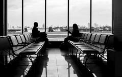 Airport (Luiz Contreira) Tags: brazil people urban bw southamerica brasil canon 50mm blackwhite airport pessoas shadows sopaulo pb sampa congonhas dslr pretoebranco amricadosul brazilianphotographer canon6d