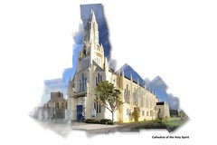 Cathedral of the Holy Spirit (Tehau Hintze) Tags: church photo cathedral outdoor photomontage joiner photocollage