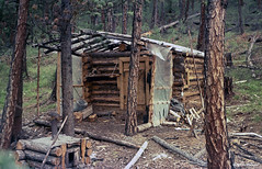 The hunting hut. Film. (azh565) Tags: summer film nature 1987 siberia sayan hunt