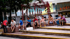 DSCF0800 Uncle party (Scofield Chan) Tags: life street color hongkong folk uncle snapshot vivid fujifilm streetphoto local fujinon publichousing streetsnap xt1 fujinon35mm