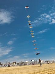 King of kites (VeeePhotoJourney) Tags: italien italy kite beach colors strand canon fly italia powershot venedig spiaggia bibione lassen drachen g12 aquilone verkufer venditore ambulante steigen amultante