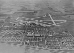 Chanute Field, Rantoul, IL, July 1946 (Urbana Free Library Digital Collections) Tags: aerialphotograph chanute militarybases rantoulil