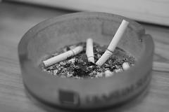 Smoking Kills (Russet07) Tags: monochrome weed bokeh helios 442