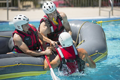 Swift Water Rescue Training (PimaCounty) Tags: water pool training boat nw tucson class ymca firefighter d1