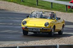 1973 Fiat 850 Spider (FurLined) Tags: yellow spider fiat 1973 850 brooklands 2016 autoitalia