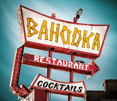 Bahooka Restaurant (Shakes The Clown) Tags: california old red food signs bar vintage typography lights restaurant losangeles closed flickr neon lounge illumination landmark retro sangabriel socal signage font southerncalifornia cocktails tiki signlanguage smugmug midcenturymodern polynesian 500px canon5dmarkii marcshurphotographycom marcshur signgeeks
