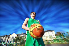 Lewis Byrne Basketball (Allan Jones Photographer) Tags: basketball photoshop angle wide 16mm canonef1635mmf4lisusm canon5d3 allanjonesphotographer lewisbyrne basketballcloseup