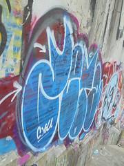 239 (en-ri) Tags: zeta cyou bianco azzurro torino wall muro graffiti writing throwup
