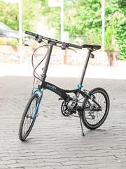 P1110132 (daniel kuhne) Tags: bike fast panasonic compact foldingbike dahon klapprad visc faltrad lumixgf1 olympus45mmf18