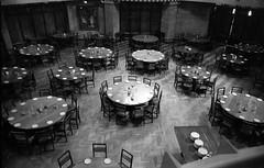 Parkville Newman College dining hall, 1978, B+W 1970s- sheet 161 01 (Graeme Butler) Tags: architecture heritage landscape victoria australia
