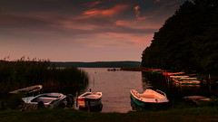 The boats on the lake (augustynbatko) Tags: sky lake nature water clouds landscape boats