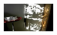 La chambre de Rorschach (hlne chantemerle) Tags: wood shadow sun art metal wall table soleil divers photographie rorschach mur livre vue mtal bois meuble intrieur ombres