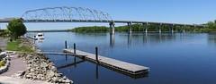 Mississippi River and Bridge (Wabasha, Minnesota) (courthouselover) Tags: minnesota wisconsin landscapes mississippiriver mn wi wabasha buffalocounty wabashacounty