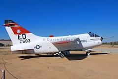 67-14583 YA-7D Corsair II - Preserved - Edwards AFB, CA (David Skeggs) Tags: museum aircraft military aeroplane corsair edwards usaf a7 usairforce flighttest afftc ya7d davidskeggs