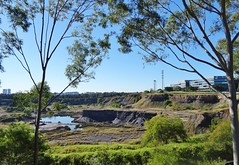 Abandoned  Shale Quarry, Brickworks - Sydney Olympic  Park (AndyBrii) Tags: quarry homebush sydneyolympicpark ringwalk statebrickworks