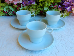 Contempri White Paul McCobb Jackson China Cups & Saucers ~ Retro (Donna's Collectables) Tags: china white paul jackson retro cups ~ saucers contempri mccobb