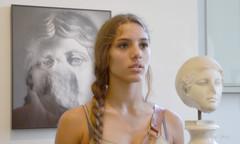 Roma, museo Palatino, luglio 2013 (adrianaaprati) Tags: roma girl fotografia statua ragazza mostrafotografica anticaroma mimmojodice museopalatino