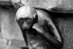 Mons Monkey Business (John fae Fife) Tags: blackandwhite bw monochrome monkey belgium belgique noiretblanc nb mons guardhouse