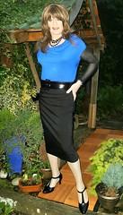 Pencil Choice (Amber :-)) Tags: black pencil skirt crossdressing tgirl transvestite