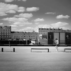 (1) - (s.fleurisson) Tags: city urban blackandwhite bw monochrome clouds nikon cityscape noiretblanc nb nantes ville cadre 35mm18