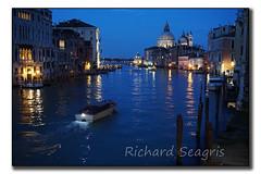 Grand Canal at Night (seagr112) Tags: venice italy night boat lowlight europe basilica gondola venezia grandcanal gondolas sonyalpha sonya6000