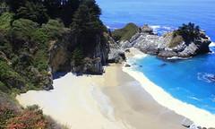 McWay Falls, Big Sur coastline (oriana.italy) Tags: mcwayfalls bigsur california usa img0186 bigsurcoastline pacificocean landscape waterfall sandbeach pfeifferstatepark montereycounty highway1 pacificcoast