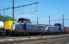 66296 + 284  Quevy  29.05.96 (w. + h. brutzer) Tags: france analog train nikon frankreich eisenbahn railway zug trains locomotive sncf lokomotive diesellok eisenbahnen quevy dieselloks webru