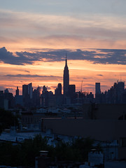 Summer Sunset (Membranophonist) Tags: sunset skyline manhattan esb