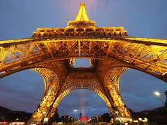 Eiffel Tower (Scott Atwood) Tags: paris france eiffeltower wideangle toureiffel bluehour ultrawideangle
