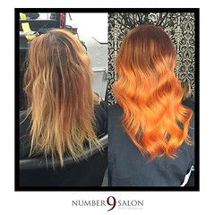 "Before and after of a tangerine dream refresher! Created by stylist, Amanda G. (aka @thehaircolorexpert) #dtsp #colorist #hair #tampabay • <a style=""font-size:0.8em;"" href=""http://www.flickr.com/photos/41394475@N04/27822659695/"" target=""_blank"">View on Flickr</a>"