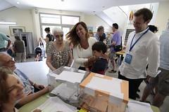 Alícia Sánchez-Camacho votando