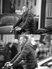 [La Mia Citt][Pedala] (Urca) Tags: portrait blackandwhite bw bike bicycle italia milano bn ciclista biancoenero mir bicicletta 2016 pedalare dittico nikondigitale ritrattostradale