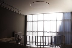 (jylertavier) Tags: chicago white indoor stairs hall curtains