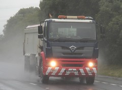 Foden Alpha (fannyfadams) Tags: uk rain wagon tipper spray lorry anglesey northwales a55 fodenalpha fj55ofx