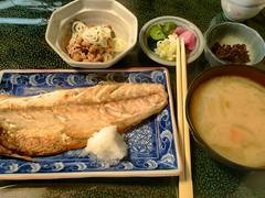 (toyohara) Tags: japan lunch mackerel tokyo natto 2016