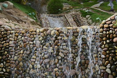 Wanna rest (Rajat's Lens) Tags: flowingwater waterfall stones india ramojifilmcity