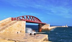 Breakwater Bridge, Valletta (Jocelyn777) Tags: water seascapes bridges malta valletta