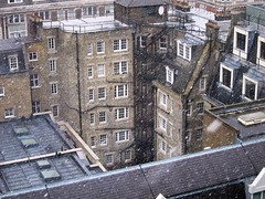 April Snow, New Broadcasting House, London 04/04/2013 (DG Jones) Tags: winter snow cold london work snowflakes office spring media rooftops newmedia freezing bbc misery radio1 dumped centrallondon greatportlandstreet notchristmas newbroadcastinghouse