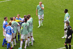 A wee stramash! (Graham`s pics) Tags: park sport football goal team support glasgow soccer goals celtic spl hoops league champions huddle eastend parkhead tropy 1213 celticfc celticpark clob 11thmay stjohnstone trophyday splchampions celticvstjohnstone 110513 20122013 11thmay2013 gspiccies